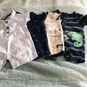 5 - newborn boy one piece outfits.